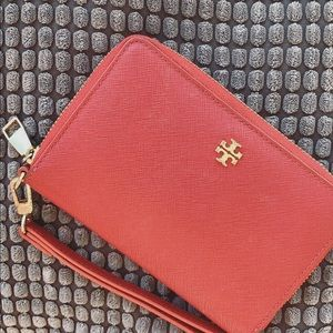 Red Tory Burch Wristlet